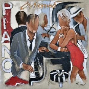 Tableau de Pierre Farel intitulé Around the piano
