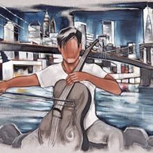 Tableau de Pierre Farel intitulé Brooklyn Concerto