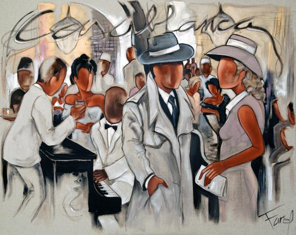 Tableau de Pierre Farel intitulé Casablanca