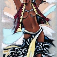 Tableau de Pierre Farel intitulé Gipsy Girl