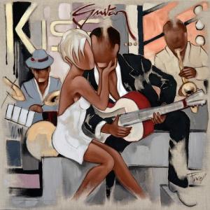 Tableau de Pierre Farel intitulé Guitar Kiss