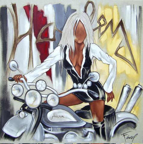 Tableau de Pierre Farel intiutlé Harley Davidson