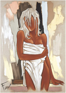 Tableau de Pierre Farel intitulé La serviette