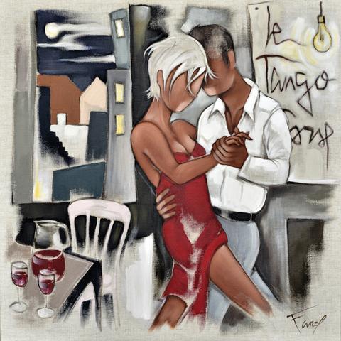 Tableau de Pierre Farel intitulé Le tango Corse