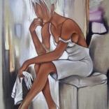 Tableau de Pierre Farel intitulé Les Gants blancs