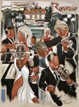 Tableau de Pierre Farel intitulé Les violons de la Roseraie