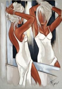 Tableau de Pierre Farel intitulé Pause miroir