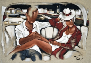 Tableau de Pierre Farel intitulé The way of love