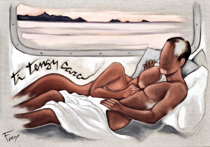 Tableau de Pierre Farel intitulé Ti tengu cara