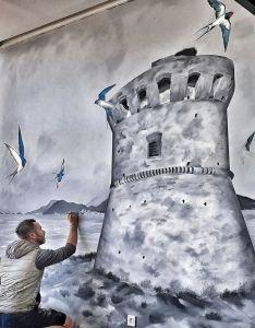 Oeuvre d'Adrien Martinetti - Les hirondelles du Capitello